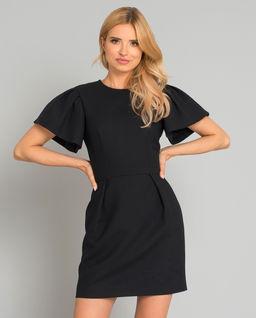Czarna mini sukienka z wełny