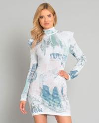 Pastelowa mini sukienka