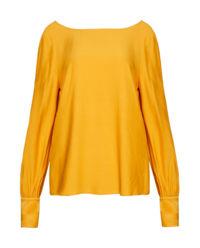 Żółta bluzka z bufiastymi rękawami