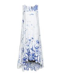 Biała sukienka midi