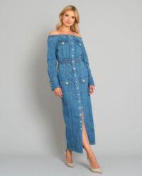 Jeansowa sukienka maxi