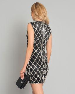 Czarna sukienka z kryształami