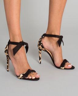 Sandały ze skóry zamszowej Clarita