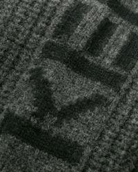 Szary kardigan z logo