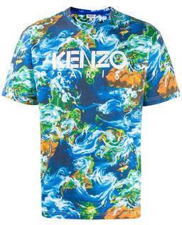 T-shirt z logo Kenzo World