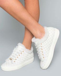 Sneakersy z naturalnej skóry  i futra
