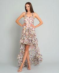 Sukienka jedwabna w kwiaty Marcella Flowers
