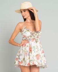 Jedwabna sukienka w kwiaty Baby Flowers