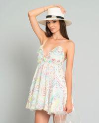 Jedwabna sukienka we wzory Baby Pure