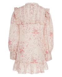 Różowa sukienka z jedwabiu