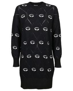 Wełniana sukienka Multi Eye