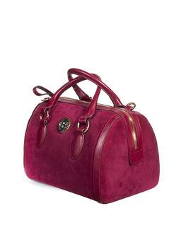 Bordowa torebka z zamszu