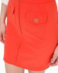 Czerwona spódnica mini