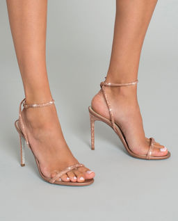 Růžové sandály na jehle Ellabrita