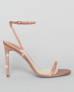 Różowe sandały na szpilce  Ellabrita