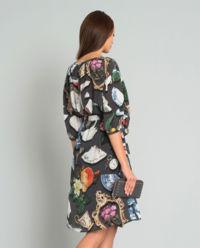 Szara sukienka we wzory