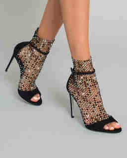 Sandály zdobené krystaly Swarovski