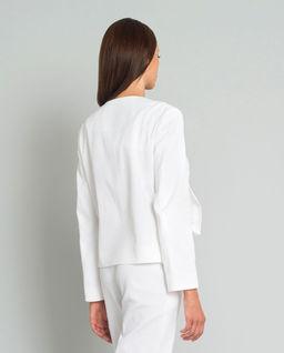 Biały żakiet z logowaniem