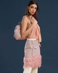 Różowa sukienka z wiązaniem