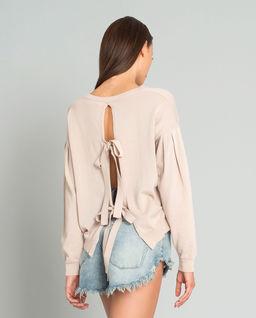 Sweter z rozcięciem na plecach