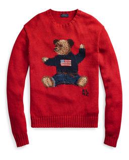 Bavlněný svetr s medvídkem