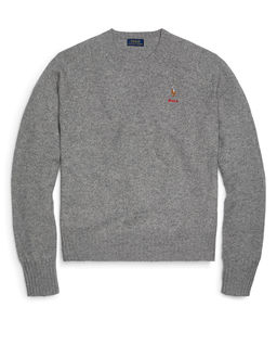 Vlněný svetr s logem