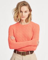 Koralowy sweter z kaszmiru