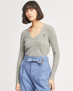 Szary sweter z domieszką kaszmiru