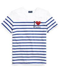 Bílé pruhované tričko