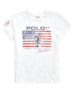 Biała koszulka z flagą