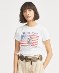 Bílé tričko s vlajkou