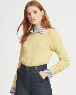 Żółty sweter z kaszmiru