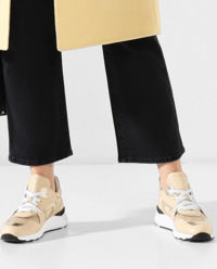 Sneakersy ze skóry z metalizującą aplikacją