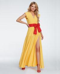 Sukienka z rozcięciem Sunny