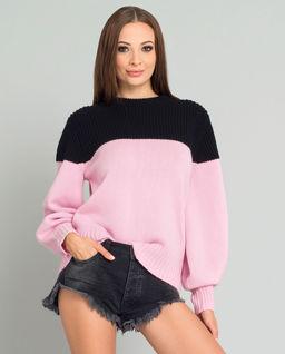 Kašmírový, oversizový svetr