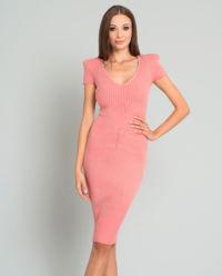 Prążkowana sukienka Peony