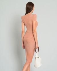 Sukienka prążkowana Rouge