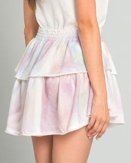 Pastelowa spódnica mini Ruffle