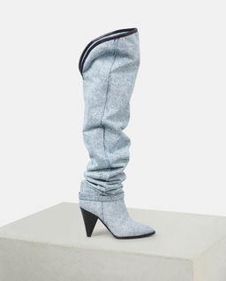 Kozaki jeansowe Learon