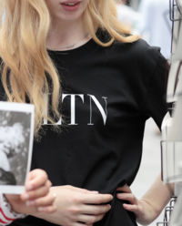 Czarny T-shirt VLTN