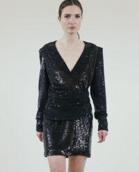 Czarna cekinowa sukienka