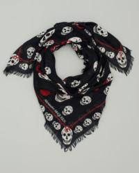 Hedvábný šátek s lebkami