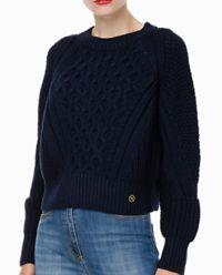 Niebieski sweter z wełny