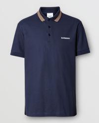 Niebieska koszulka polo z logo