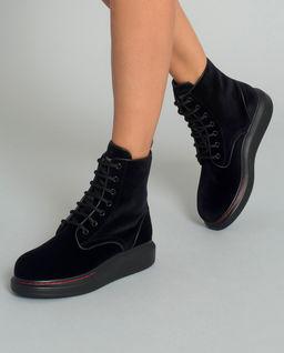 Sametové boty nad kotníky