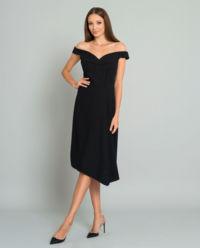 Černé midi šaty