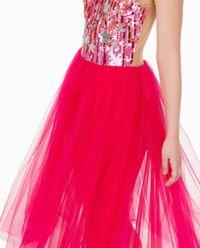 Różowa tiulowa sukienka z gwiazdkami