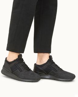 Czarne sneakersy z nubuku