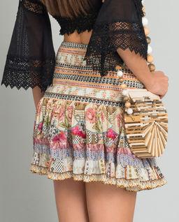 Spódnica mini z kryształami Swarovskiego