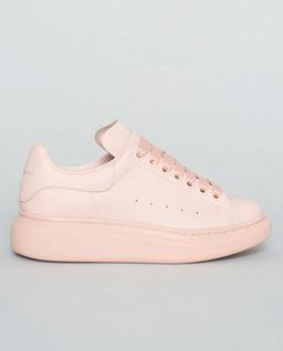 Różowe sneakersy z podeszwą 4 cm